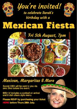 An image depicting Sarah's Mexican Fiesta!