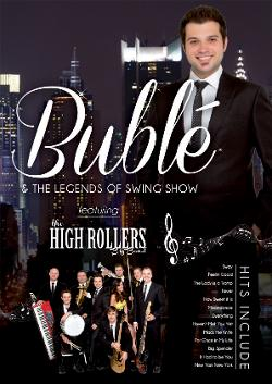 An image depicting Bublé and the Legends of Swing