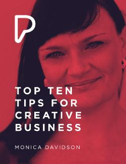 An image depicting Top Ten Tips for Creative Business
