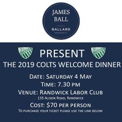 An image depicting 2019 Ballard Property Colts Welcome Dinner