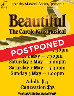An image depicting POSTPONED - Beautiful - The Carole King Musical