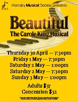 An image depicting Beautiful - The Carole King Musical