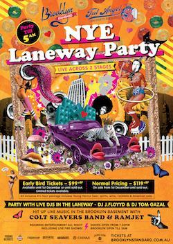 An image depicting Brooklyn Standard & Fat Angel NYE19 Laneway Party