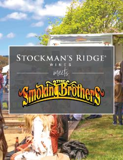 An image depicting Stockman's Ridge Wines meets the Smoking Brothers