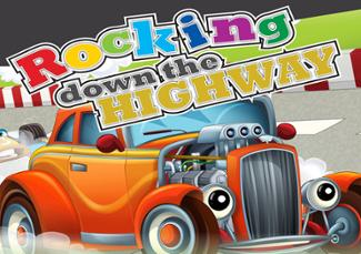 An image depicting Rocking Down The Highway