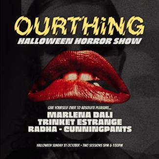 An image depicting OURTHiNG HALLOWEEN HORROR SHOW