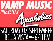 An image depicting VAMP Music Presents AQUAHOLICS