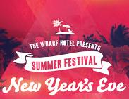 An image depicting Wharf Hotel New Year's Eve Summer Festival