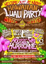 An image depicting We Come Out At Night - Labour Day Eve HAWAIIAN LUAU PARTY!