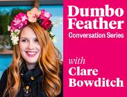An image depicting Dumbo Feather conversation series with Clare Bowditch